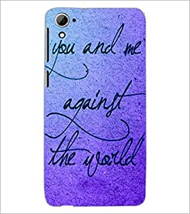 PrintDhaba Quote D-3470 Back Case Cover for HTC DESIRE 826 (Multi-Coloured)