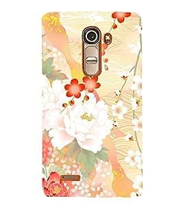 Floral Abstract Design 3D Hard Polycarbonate Designer Back Case Cover for LG G4 Mini :: LG G4C