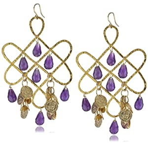 Devon Leigh Knot Chandelier Earrings