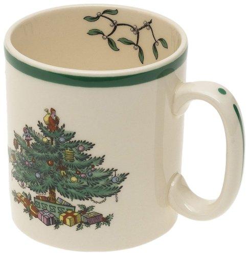 Spode Christmas Tree Mug, Set of 4 Spode China Christmas Tree