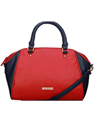 Caprese Solang Women's Satchel (Red And Blue)