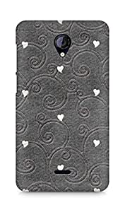 Amez designer printed 3d premium high quality back case cover forMicromax Unite 2 A106 (hearts embroiderry)