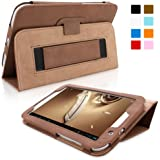 Snugg Galaxy Note 8 Case - Smart Cover with Flip Stand & Lifetime Guarantee ('Distressed' Brown Leather) for Samsung Galaxy Note 8