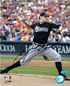 Josh Johnson Autographed Hand Signed 8x10 photo (Florida Marlins) Image #2 by Hall+of+Fame+Memorabilia