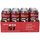 MET-Rx Protein Plus RTD 51 - Creamy Vanilla 51gr Protein RTD, 15-Ounce (Pack Of 12)