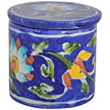 Shiv Kripa Blue Pottery Ceramic Decorative Box (12 Cm X 15 Cm X 12 Cm, BP11)