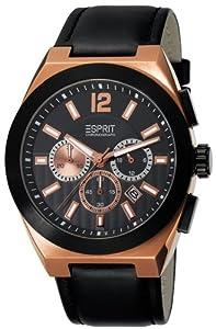 Esprit Herren-Armbanduhr XL Pace Chronograph Quarz Leder ES102521004