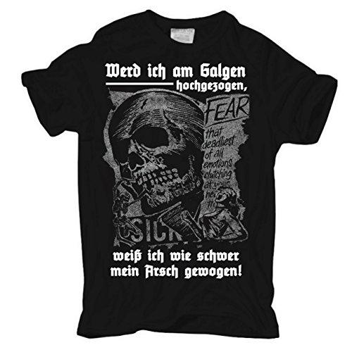 Life Is Pain -  T-shirt - Abbigliamento - Maniche a 3/4 - Uomo Körperbetont schwarz Medium