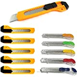 Lot Of 10 Utility Knife Box Cutter Snap Off Lock Razor Blade Constructor Tool !!
