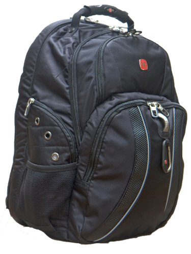 SwissGear Wenger 3200 ScanSmart Black Laptop Notebook Comupter Backpack 17 Inch