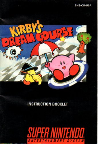 Kirby'S Dream Course Snes Instruction Booklet (Super Nintendo Manual Only - No Game) [Pamphlet Only - No Game Included] Nintendo front-576960
