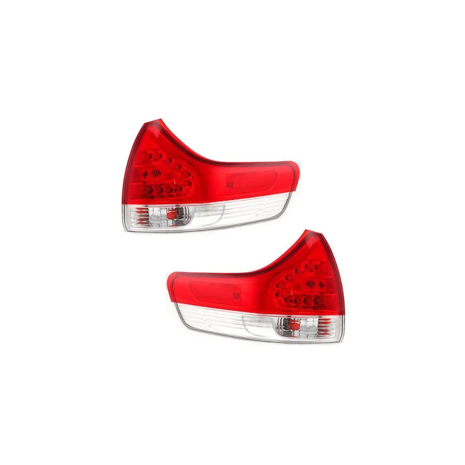 2011 2012 2013 Toyota Sienna (LE, XLE, Base & Limited Models Only) Taillight Taillamp Rear Brake Tail Light Lamp (Quarter Panel Outer Body Mounted) Pair Set Right Passenger AND Left Driver Side (11 12 13)