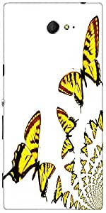 Snoogg Kaleidoscopic Butterflies Designer Protective Back Case Cover For Sony...