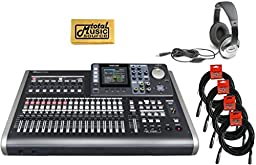 Tascam DP-24SD 24 Track Complete Digital Studio Recorder Bundle