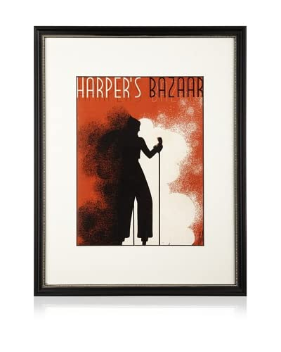 Harper's Bazaar cover dated 1935. by Erte. 16X20 framed