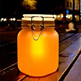 Solar lamp Night light Creative Gift Double Color Sun And Moon Jar