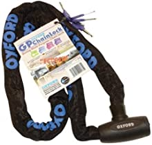 Comprar Oxford GP OF178 Chain Lock - Cadena antirrobo para moto, color azul cielo, 1.5 m