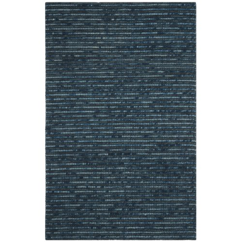 Safavieh Bohemian Collection BOH525G Hand-Knotted Dark Blue and Multi Jute Square Area Rug, 6 feet Square (6' Square)