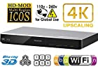 PANASONIC DMP-BDT270 2K/4K Multi Region All System Blu Ray Disc DVD Player - PAL/NTSC - 2D/3D - Wi-Fi - 100~240V 50/60Hz World-Wide Use & 6 Feet HDMI Cable