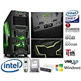 PC DESKTOP INTEL QUAD CORE GAMING ITEK NINJA 8GB RAM HD 1TB HDMI ASSEMBLATO NEW CASE OFFERTA