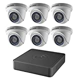 Hikvision USA T7108Q2TA Hikvision Kit, 8 Ch Turbo Hd/Analog Dvr, 2Tb Storage, 6 Outdoor Turret Cameras, Hd1080P, Ir To 60 Ft, 2.8Mm Lens