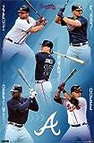 Atlanta Braves 2011 McCann Uggla Jones Prado Heyward Sports Poster Print – 24×36 Sports Poster Print, 22×34