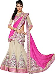 Apka Apna Fashion Women's Net Lehenga Choli (aaf3_Pink_Free Size)