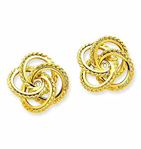 14k Polished and Twisted Fancy Earring Jackets