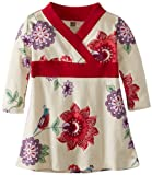 Tea Collection Baby-Girls Newborn Classic Wrap Dress, Birch, 3-6 Months