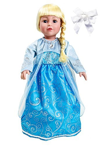 Little Adventure 41360 Ice Princess Doll Dress with Hair Bow - 1