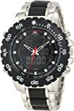 U.S. Polo Assn. Classic Mens US8161 Black and Silver Bracelet Analog Digital Watch