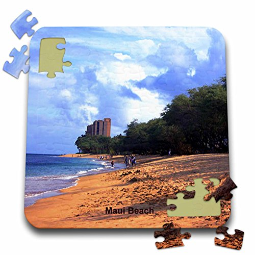 Sandy Mertens Hawaii Travel Designs - Maui Beach - 10x10 Inch Puzzle (pzl_26340_2)