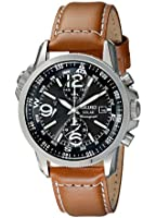 SSC081P1 Gents Seiko Stainless Steel Brown Leather Strap Watch