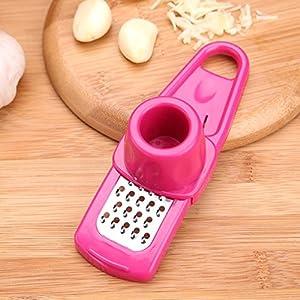 Magical Home Multifunction garlic presser Grinding Grater Planer Slicer Cutter Cooking Tool Kitchen Utensils Kitchen Accessories (red)