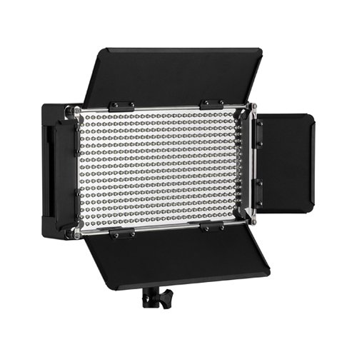 Fotodiox Pro Led 500 Avl With Barndoor And Lcd Display Still / Video Led Light Kit, With Dimmer, Removable Diffusion Panel