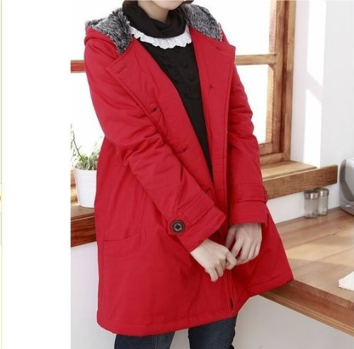 New Stylish Red Maternity Coat - UK Size 10