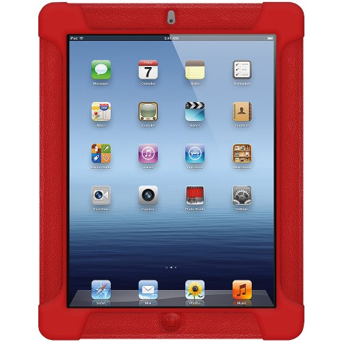 Imagen de La jalea del silicón Cubierta Amzer Skin Fit Funda para Apple iPad 2 y iPad 3 - Rojo Tomate (AMZ93584)