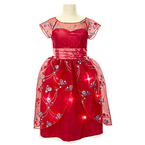 Disney Elena of Avalor Royal Ball Gown ~ Music & Light Up Costume Dress ~ Size 4-6X