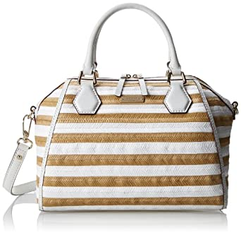kate spade new york Catherine Street Straw Pippa Top Handle Bag,Fresh White/Natural,One Size