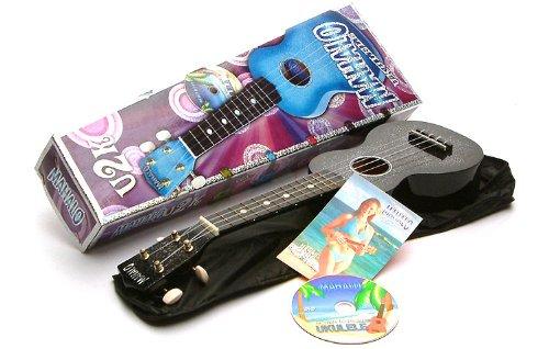 Black Ukulele Starter Kit: DVD, Bag and 'Sparkly' Ukelele
