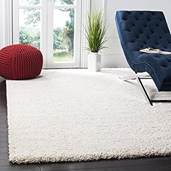 Safavieh Milan Shag Collection SG180-1212 Ivory Area Rug (6 x 9)