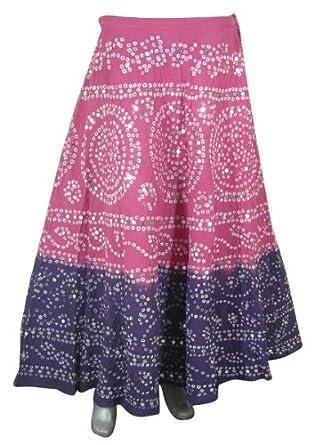 Tie Dye Clothing Multicolor Sequin Long Skirt Women India: Amazon.co