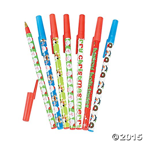 Christmas Characters Stick Pen Assortment - Teaching Supplies & Stationery & Pens & Pencils- 24 Pack