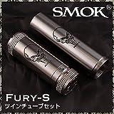 【Smok】 FURY-S ( フューリー エス )18350 18650 ツインチューブセット  電子タバコ VAPE 【メカニカル MOD】 (正規輸入品)