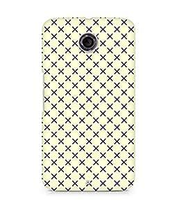 Amez designer printed 3d premium high quality back case cover for Motorola Nexus 6 (Black n Yellow Pattern2)