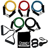 Protone® Resistance bands set - exercise bands for Home fitness, travel, Yoga