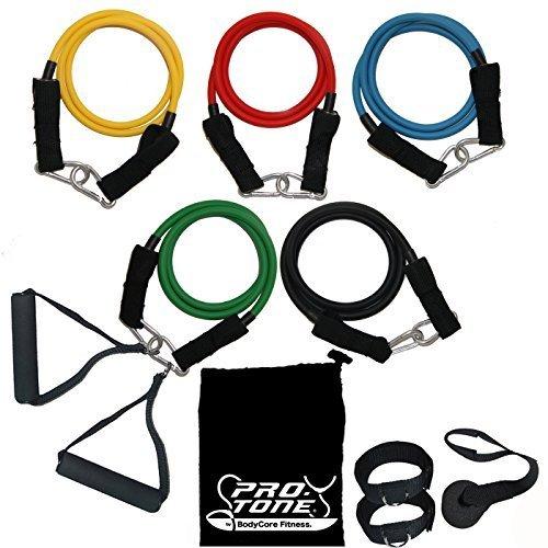 Bodycore Fitness - Set di elastici da ginnastica per allenamento in casa e in viaggio