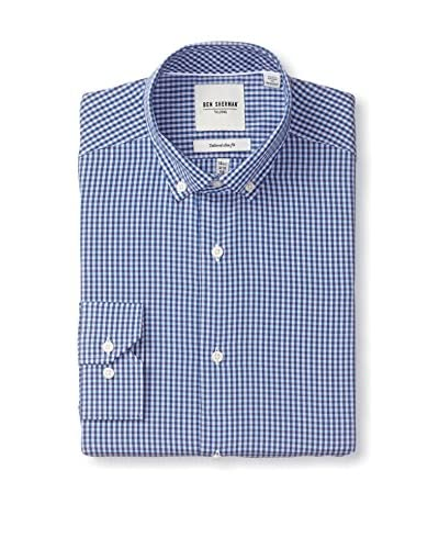 Ben Sherman Men's Gingham Button Down Collar Dress Shirt