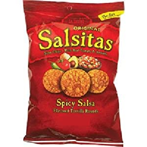 El Sabroso Original Salsitas - Salsa Chips With Real Tomato Avocado - Spicy 12-ounce Package