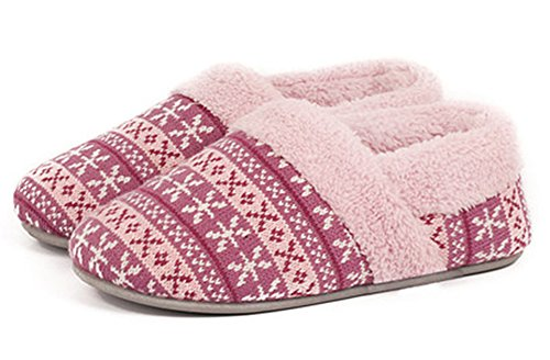 unisex-bootie-slippers-happy-lily-warm-footwear-memory-foam-mules-with-anti-skip-rubber-outsole-flee